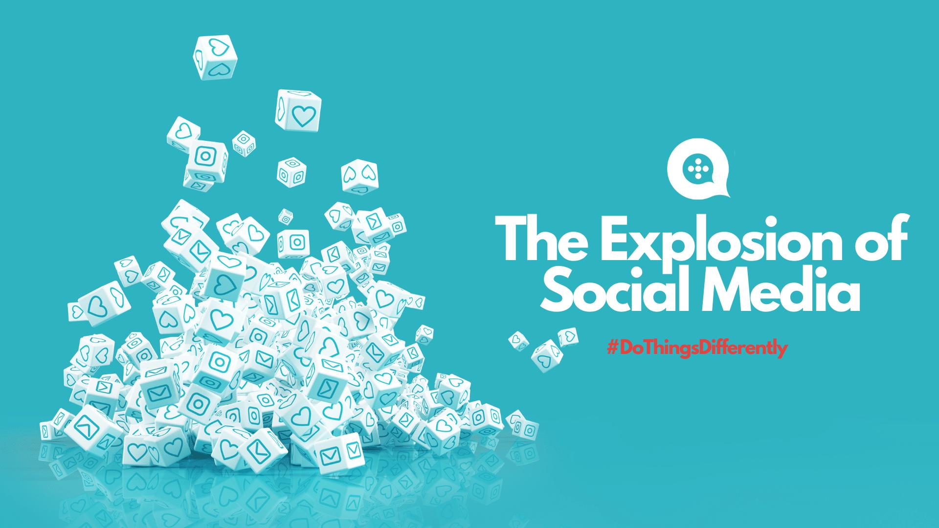 Social Media explosion likes and hearts